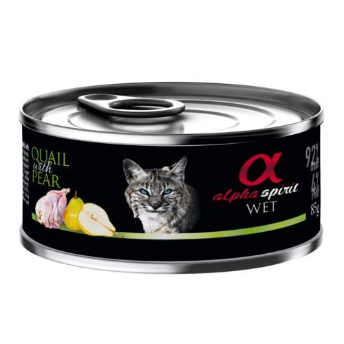 Alpha Spirit húmido codorna com pera para gatos