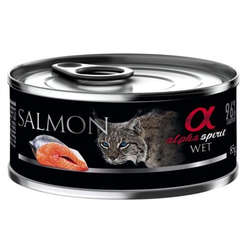 Alpha Spirit húmido salmão para gatos