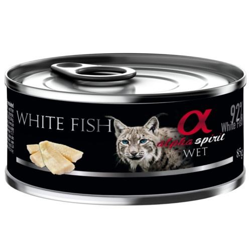 Alpha Spirit húmido peixe branco para gatos