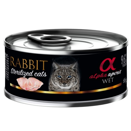 Alpha Spirit Sterilized húmido coelho para gatos