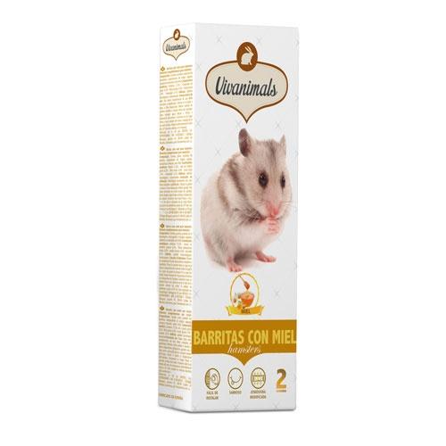 Barritas com mel para hamsters Vivanimals