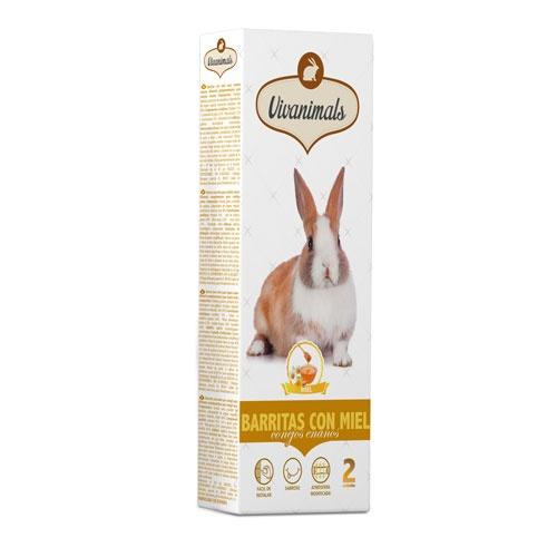 Barritas com mel para coelhos Vivanimals