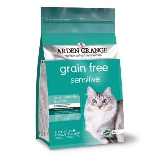 Ração Arden Grange Sensitive para gatos
