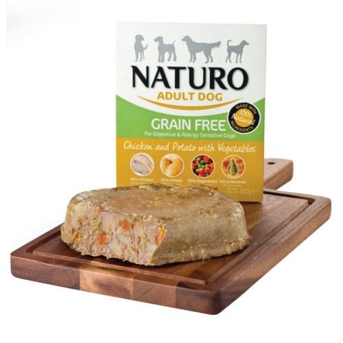 Naturo Grain Free frango com batata para cães