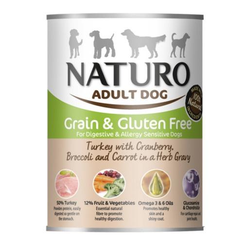 Naturo Grain Free peru com verduras para cães