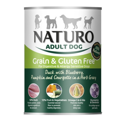 Naturo Grain Free pato com verduras para cães