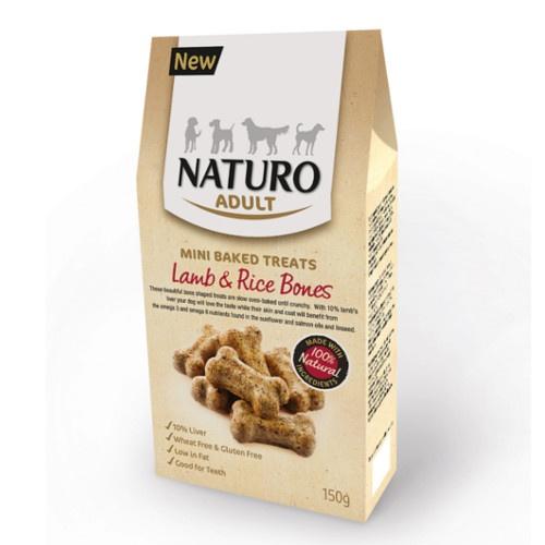 Naturo ossinhos de cordeiro e arroz para cães