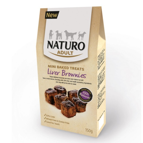 Naturo brownies de fígado para cães