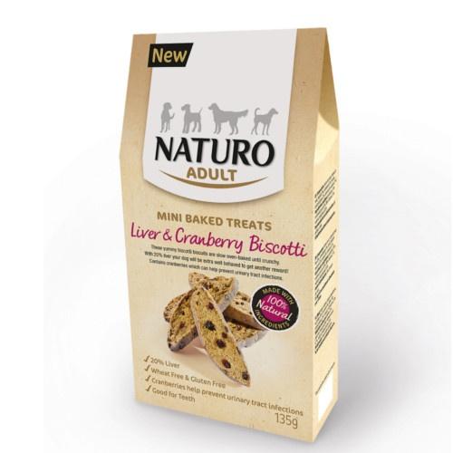 Naturo biscoitos de fígado e mirtilos para cães