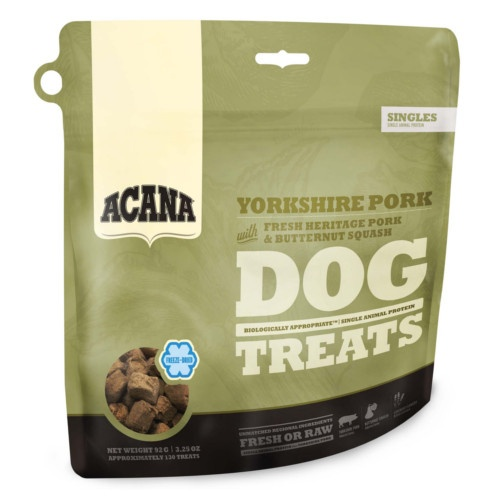 Snack Acana Dog Treats porco e curgete