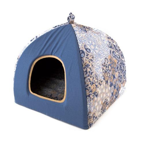 Cama iglu para cães e gatos TK-Pet Blua