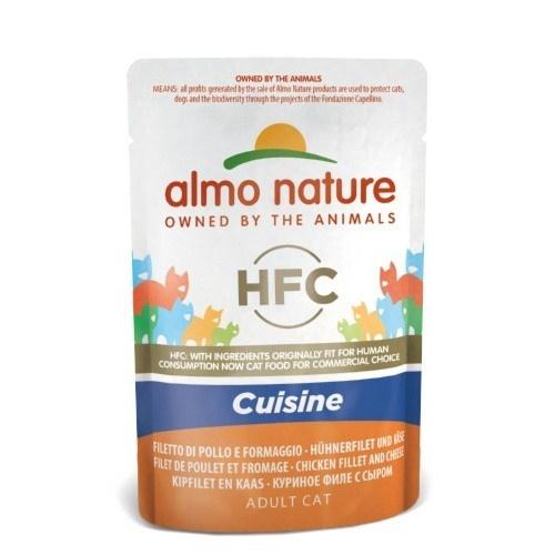 Almo Nature HFC Cuisine frango e queijo para gatos