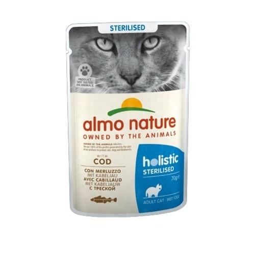 Almo Nature Sterilised bacalhau para gatos