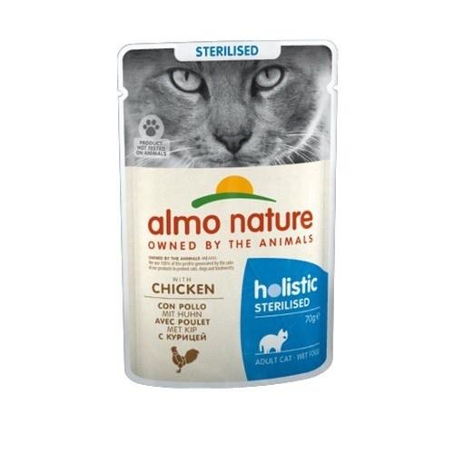 Almo Nature Sterilised frango para gatos