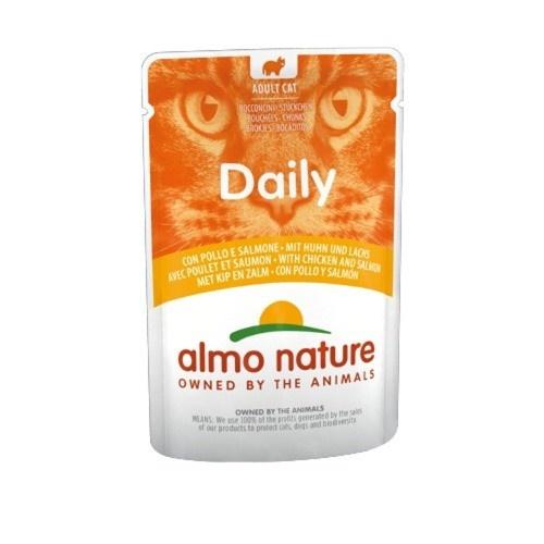 Almo Nature Daily frango e salmão para gatos