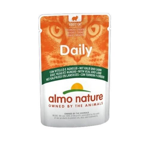 Almo Nature Daily vitela e cordeiro para gatosAlmo Nature Daily vitela e cordeiro para gatos