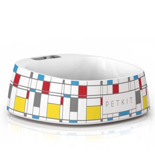 Comedouro inteligente Petkit Fresh desenho Mondrian