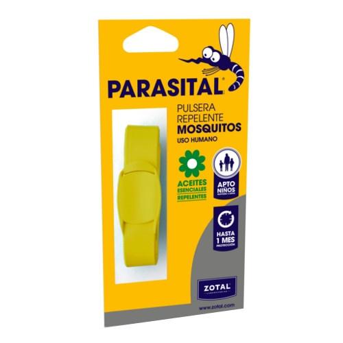 Pulseira repelente de mosquitos Parasital amarela
