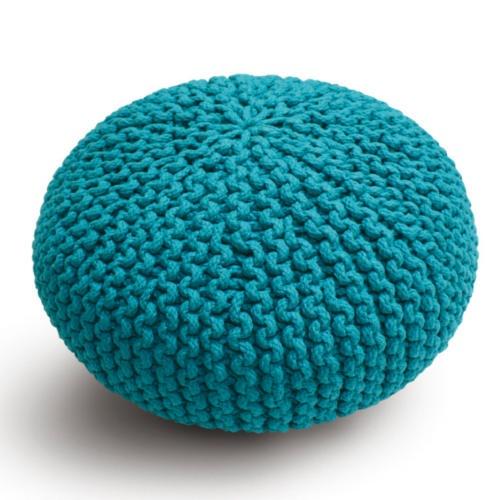 Pufe de lã para cães e gatos azul