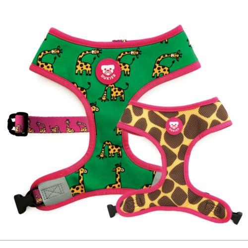 Peitoral reversível estampado girafa Dukier Savana