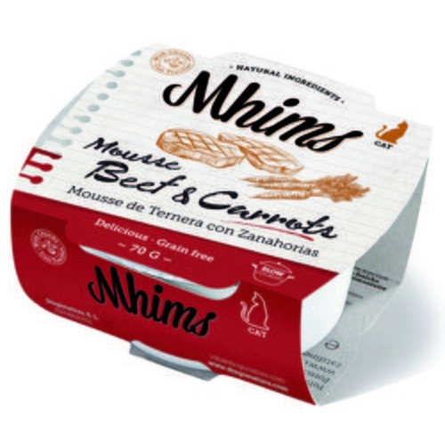 Mhims Mousse vitela com cenoura para gatos