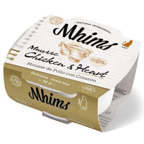 Mhims Mousse frango com coração para gatos