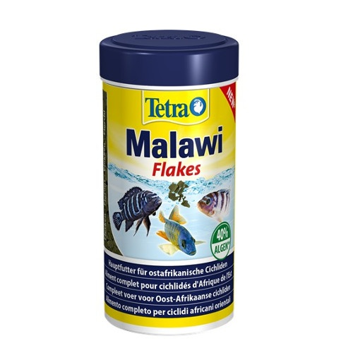 Tetra Malawi alimento em flocos