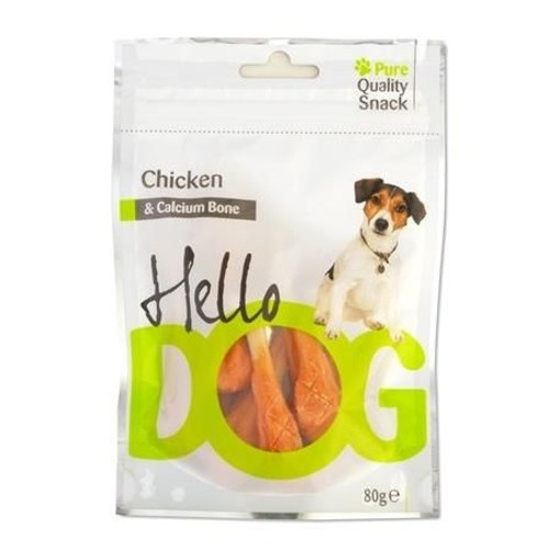 Snack natural Hello Dog frango e cálcio