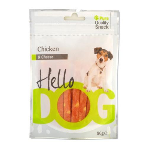 Snack natural Hello Dog frango e queijo