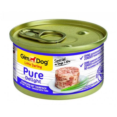 Comida húmida GimDog Pure Delight frango e atum