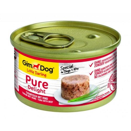 Comida húmida GimDog Pure Delight atum e vaca