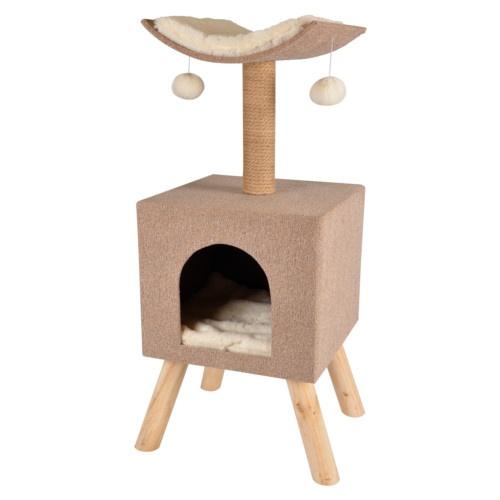 Árvore arranhador com casa Scandi Home para gatos