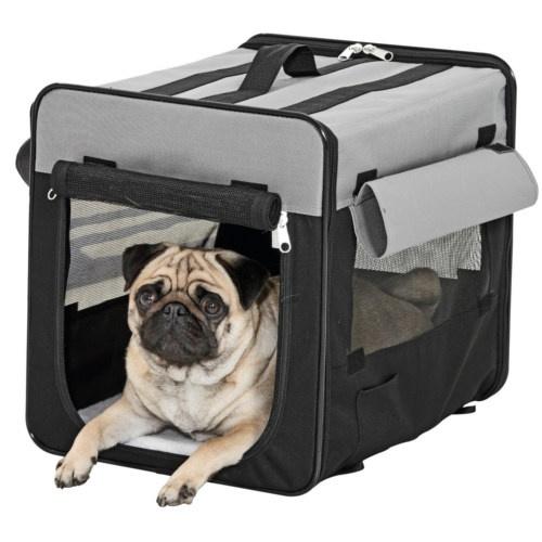 Caixa de transporte casota de tecido para cães grandes