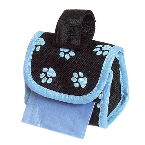 Porta-sacos para cinto ou trela azul