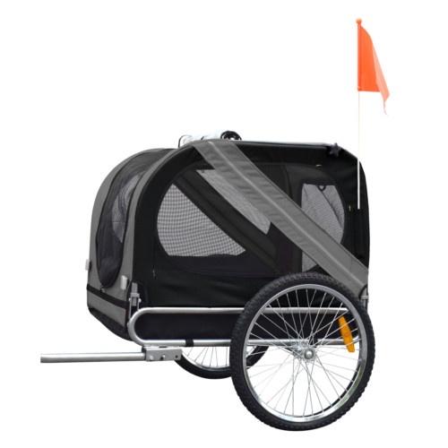 Caixa de transporte com atrelado para bicicleta