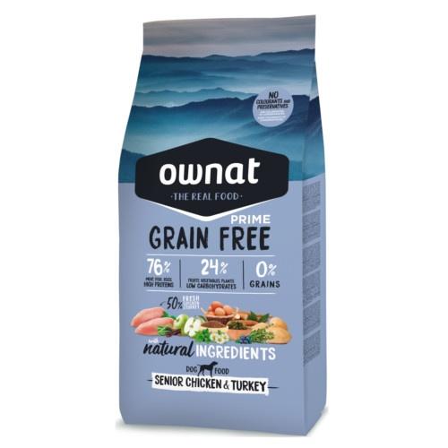 Ração Ownat Grain Free Senior frango e peru