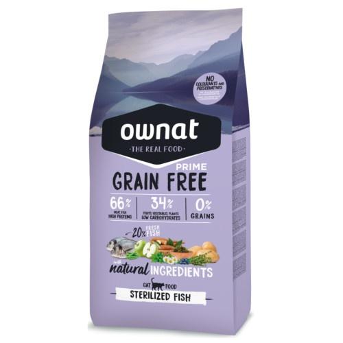 Ração Ownat Grain Free Sterilized peixe