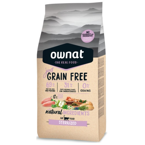 Ração Ownat Just Grain Free Sterilized