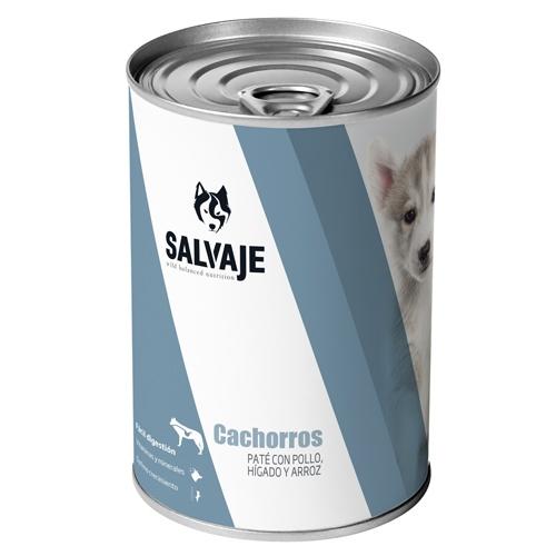 Salvaje Cachorros Patê com frango, fígado e arroz