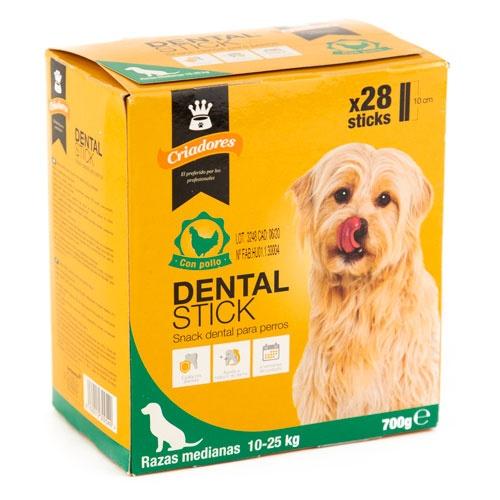Criadores Dental Stick frango para cães médios