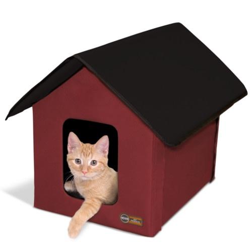 Casinha de tecido impermeável para gatos