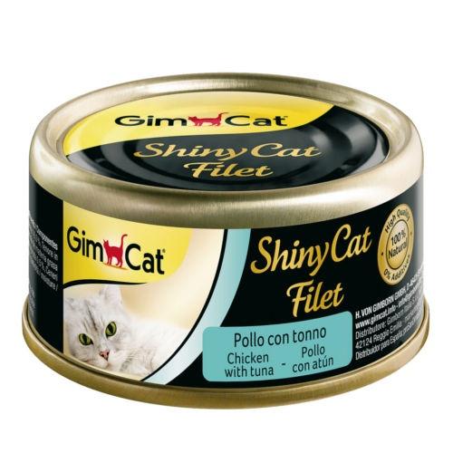 Comida húmida Shiny Cat Filet frango com atum