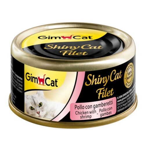 Comida húmida Shiny Cat Filet frango com camarão