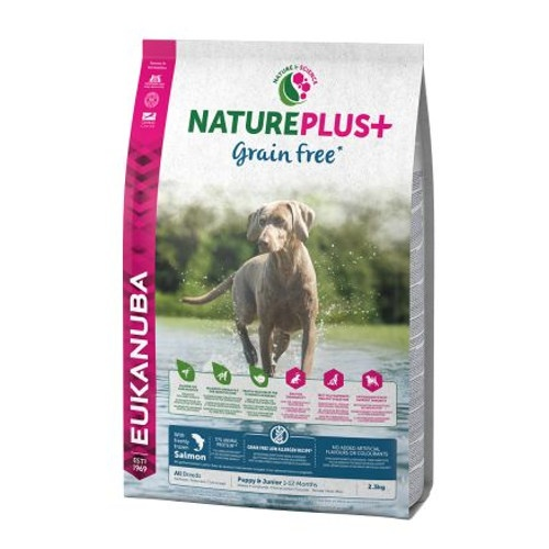 Eukanuba NaturePlus Grain Free Puppy Salmão