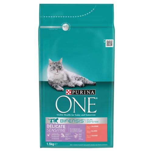 Ração Purina One Delicate Sensitive Salmão