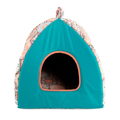 Cama iglu para cães e gatos TK-Pet Mosaico