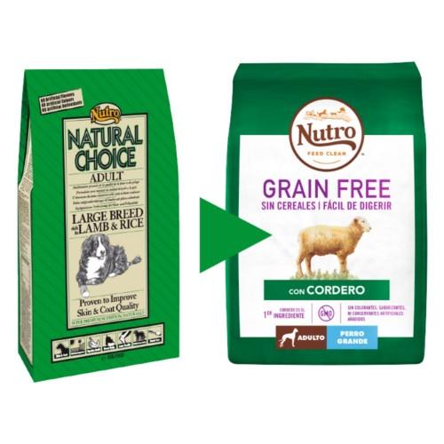 Nutro Grain Free com cordeiro para cães grandes