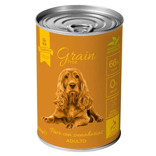 Criadores Grain Free húmido Peru & Cenouras para cães