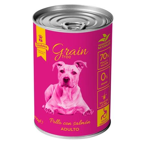 Criadores Grain Free húmido Frango & Salmão para cães
