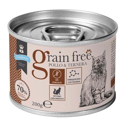 Criadores Grain Free húmido Frango e Vitela para gatinhos